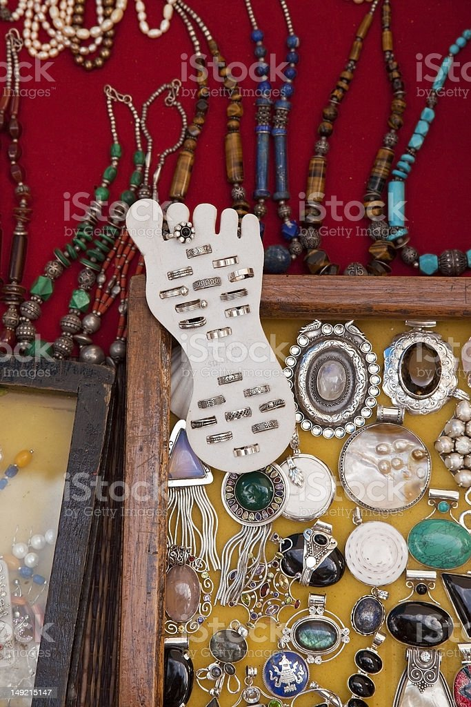 toe rings and jewelry royalty-free stock photo