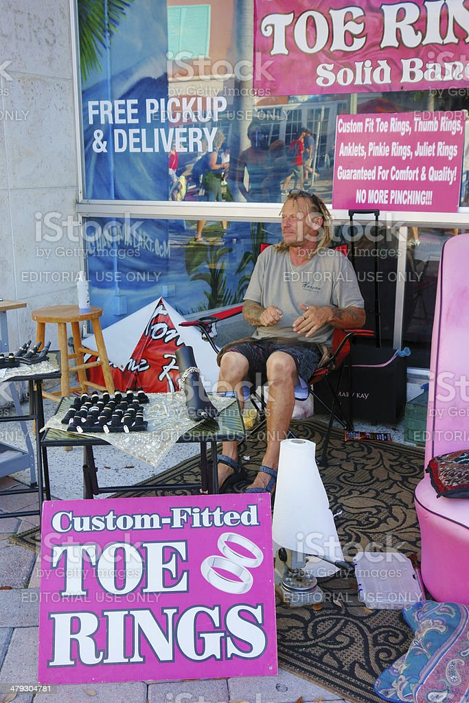 Toe Rings shop in Lake Worth Florida stock photo