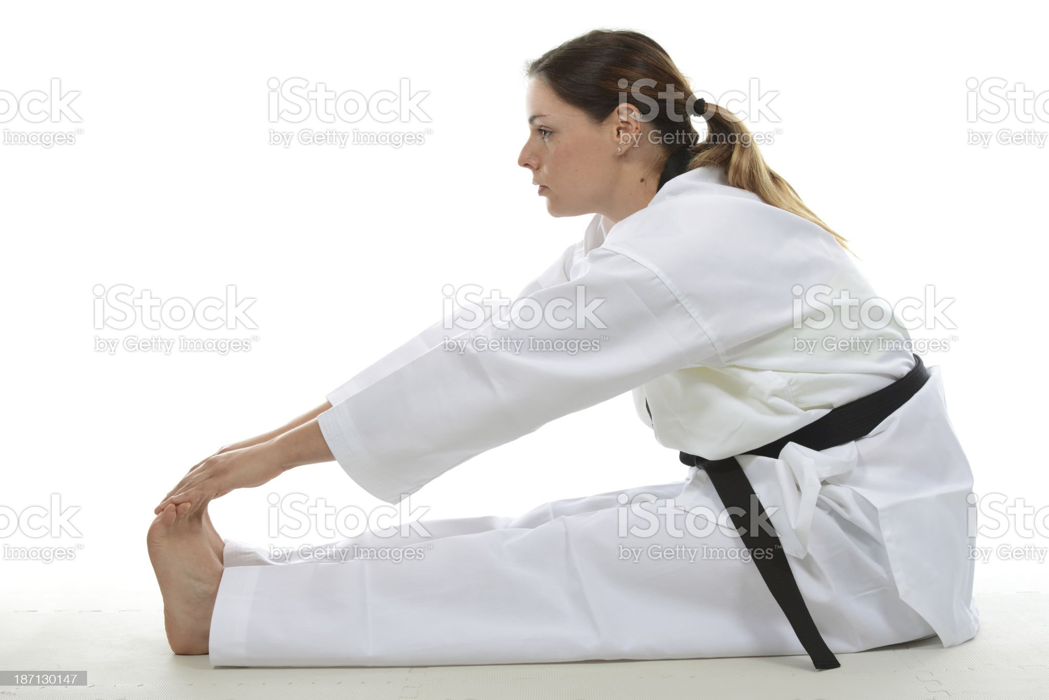 Toe touching warm up royalty-free stock photo
