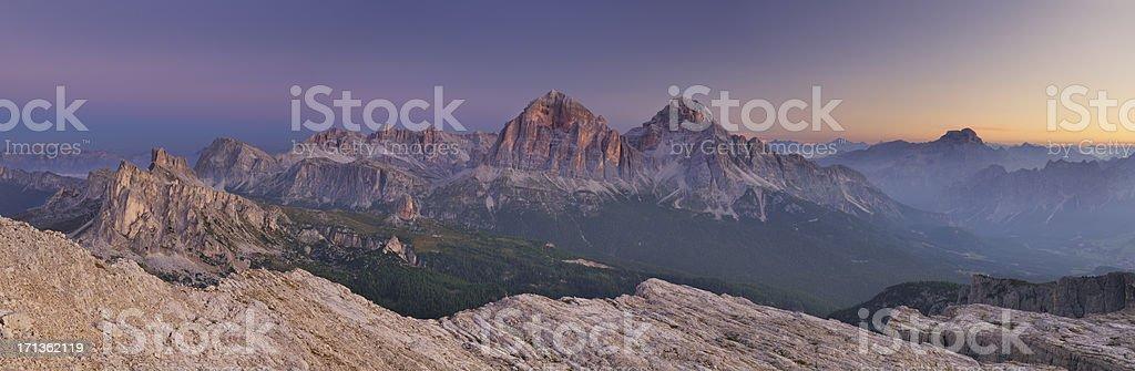 Tofane At Dawn (Dolomiti - Italia) stock photo