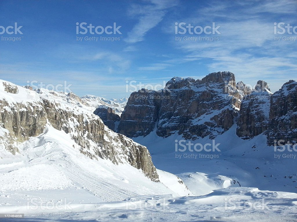 Tofane, Dolomites stock photo