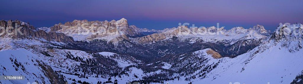 Tofane Group At Twilight (Dolomites - Italy) stock photo