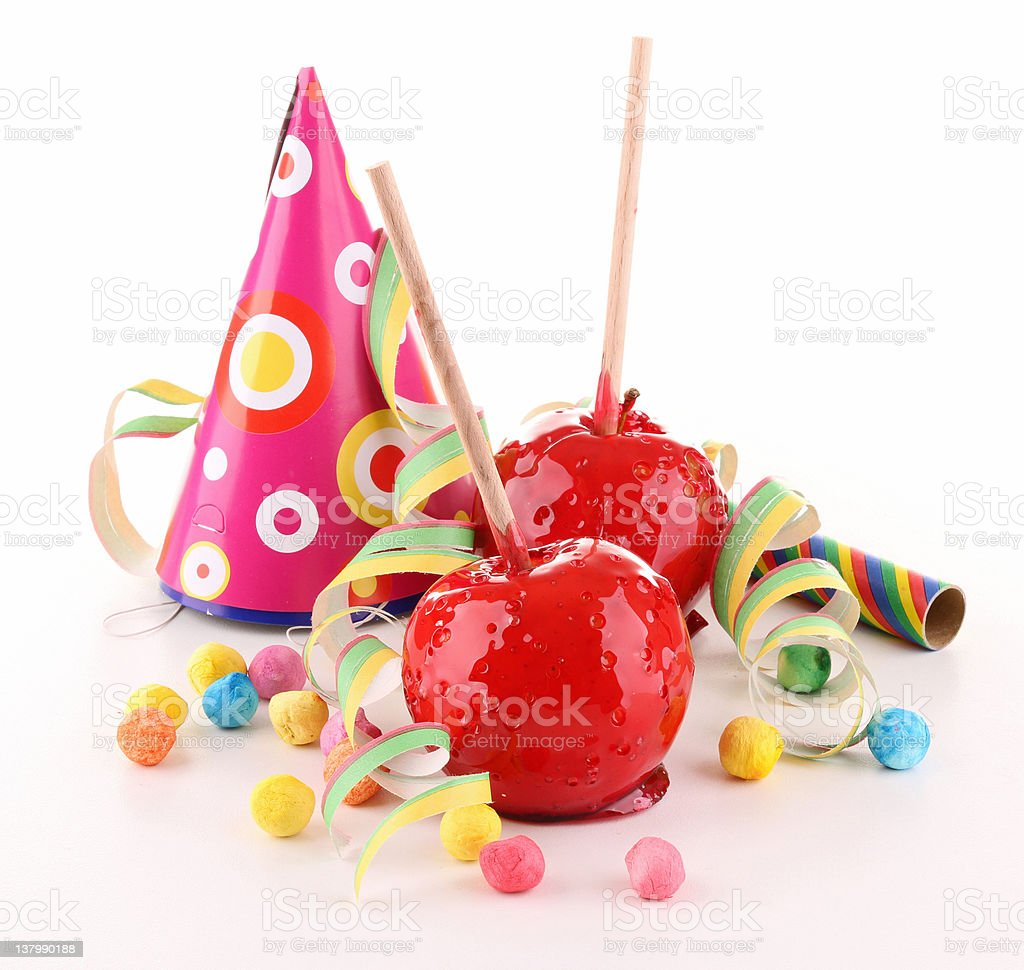 toffee apple and decoration royalty-free stock photo