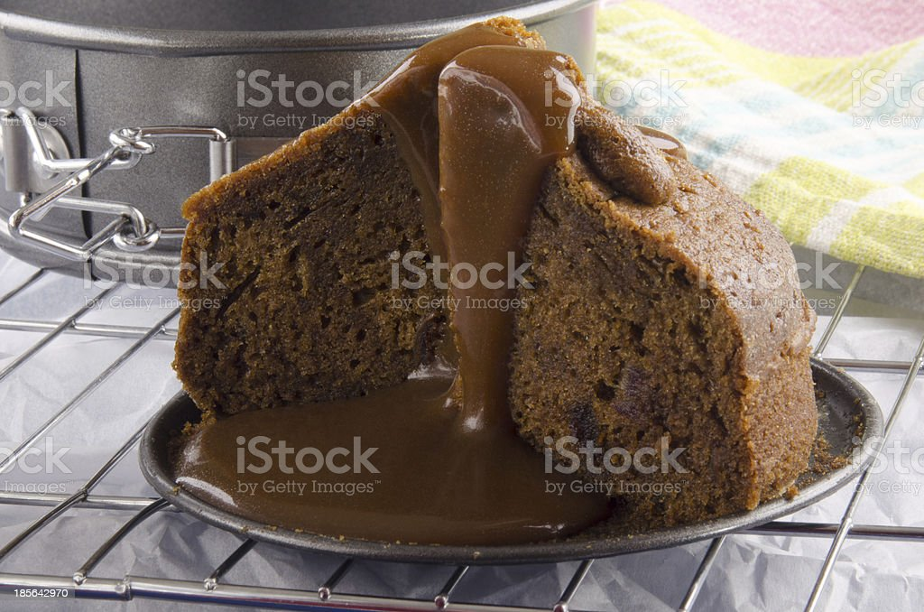 toffee pudding with caramel sauce royalty-free stock photo