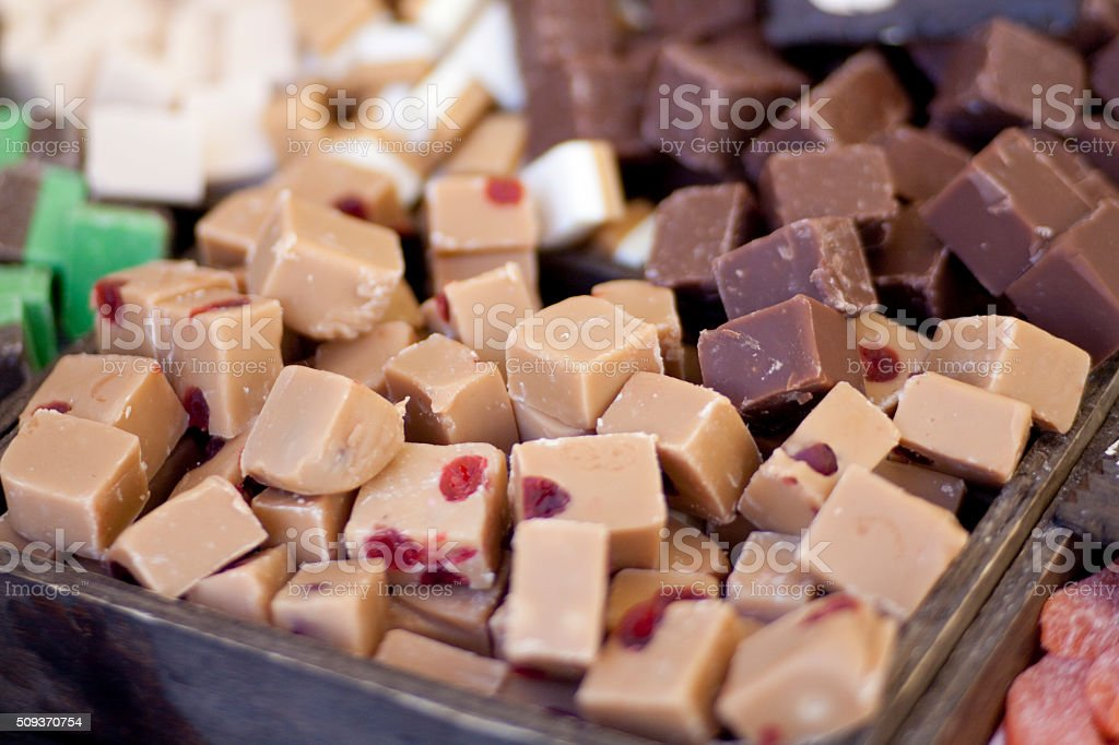 Toffees stock photo
