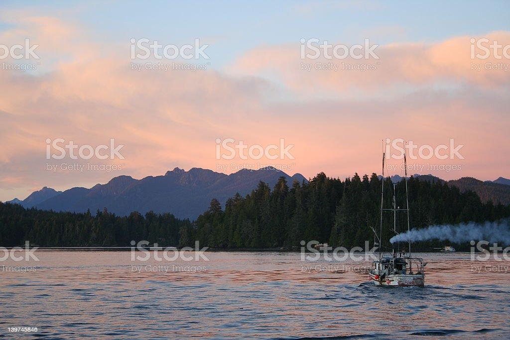 Tofino Fisherboat Canada royalty-free stock photo