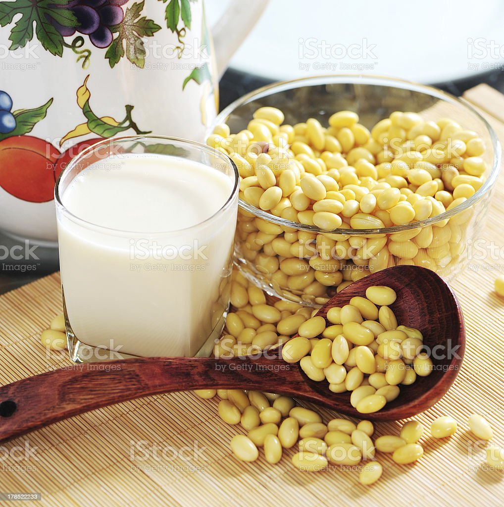 tofu and soy beans royalty-free stock photo