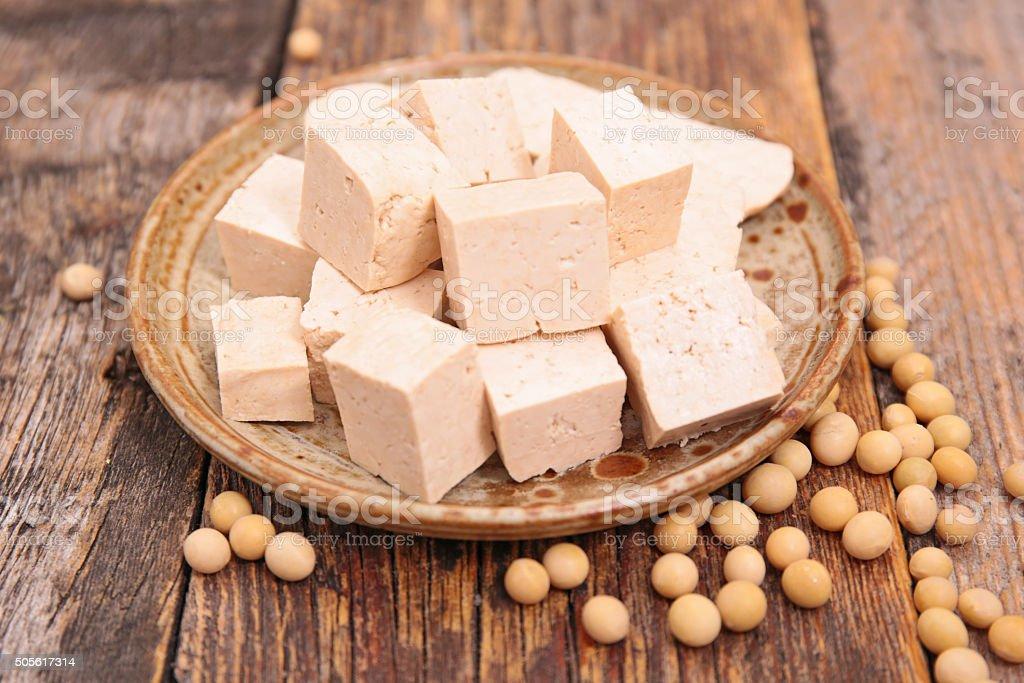 tofu and soybean stock photo
