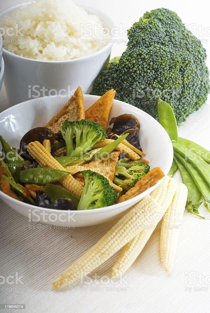 tofu beancurd and vegetables stock photo