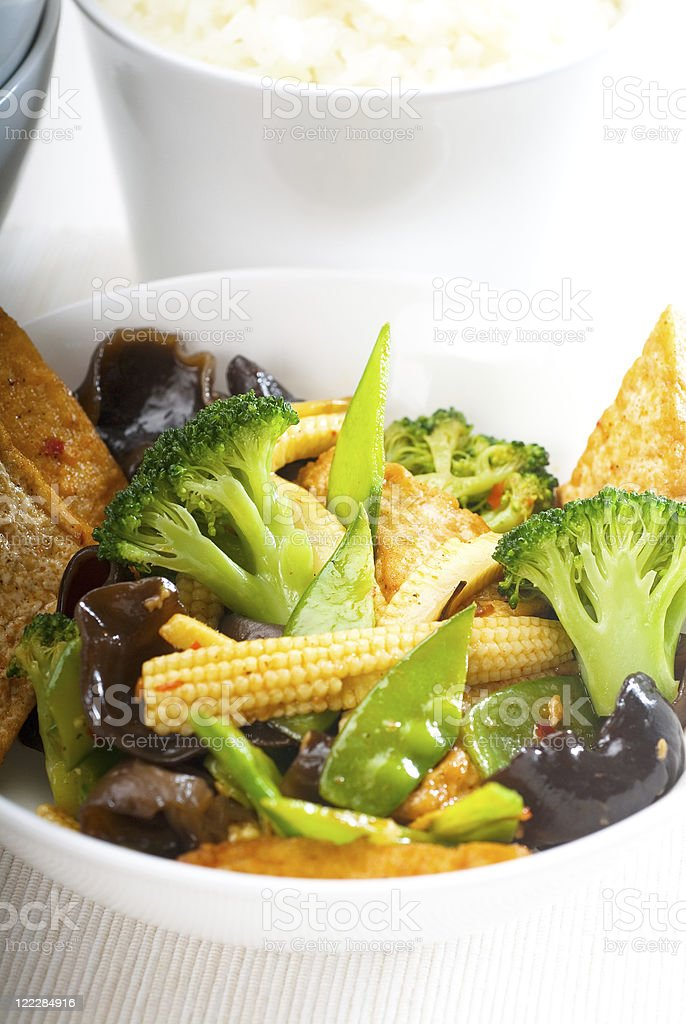 tofu beancurd and vegetables royalty-free stock photo