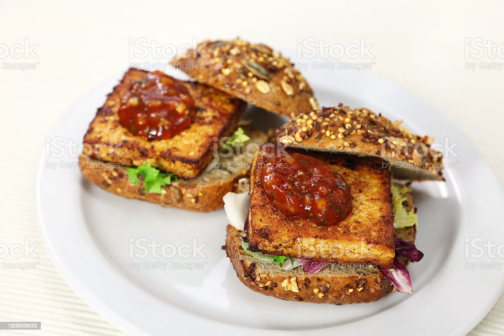 Tofu Burger stock photo
