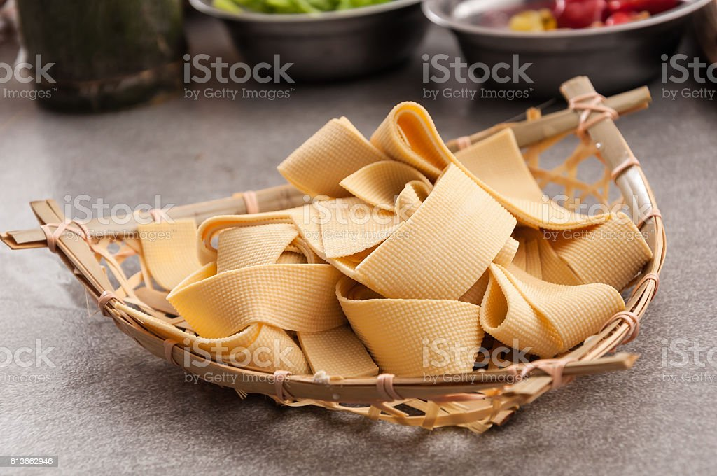 Tofu skin stock photo