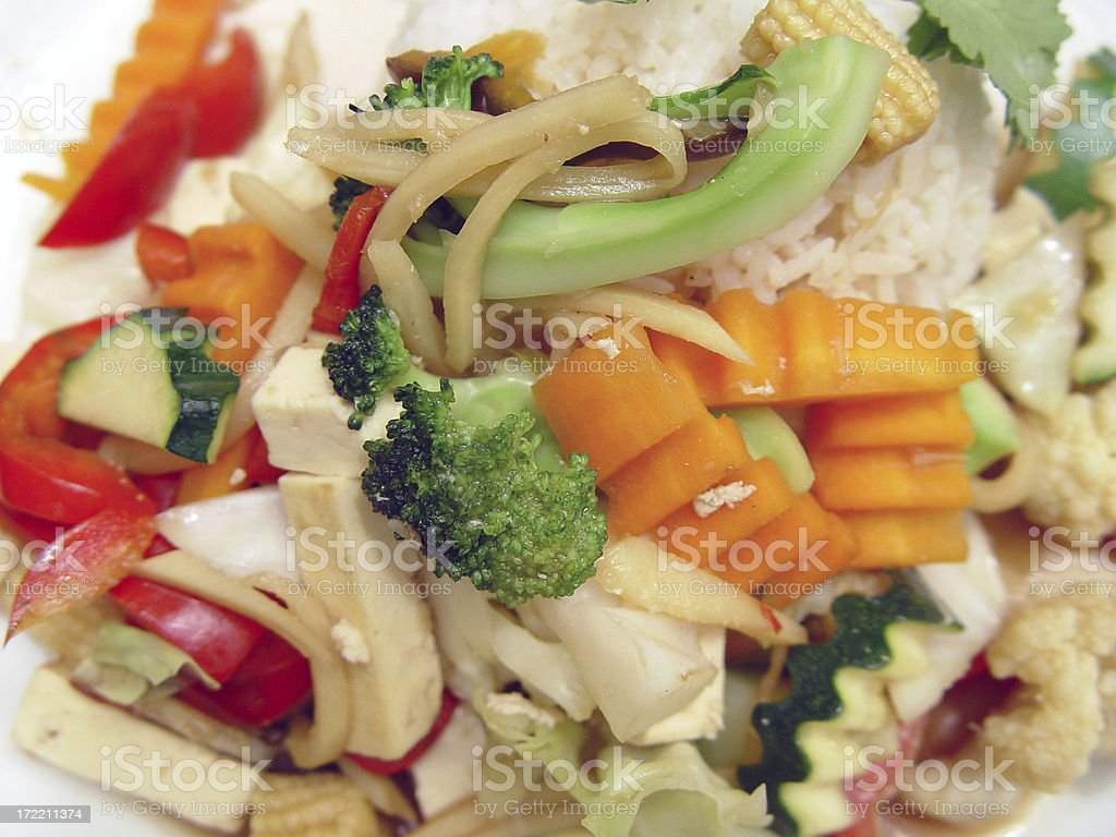 Tofu stirfry royalty-free stock photo