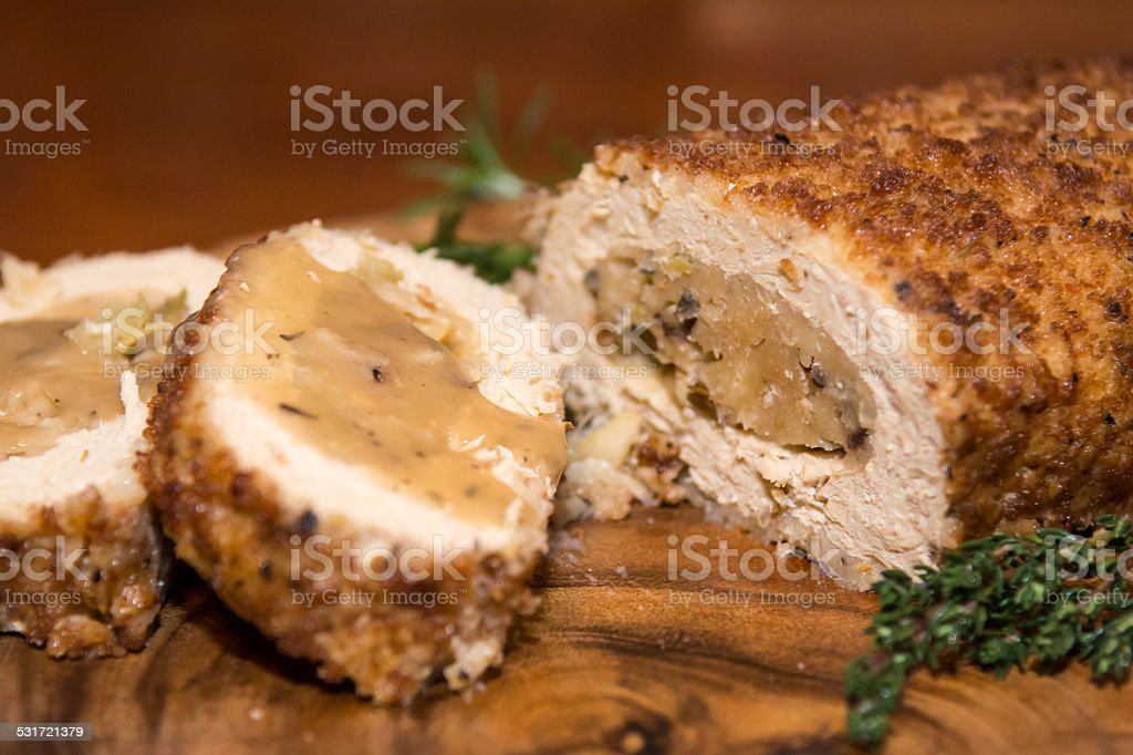 Tofu Turkey Casserole stock photo