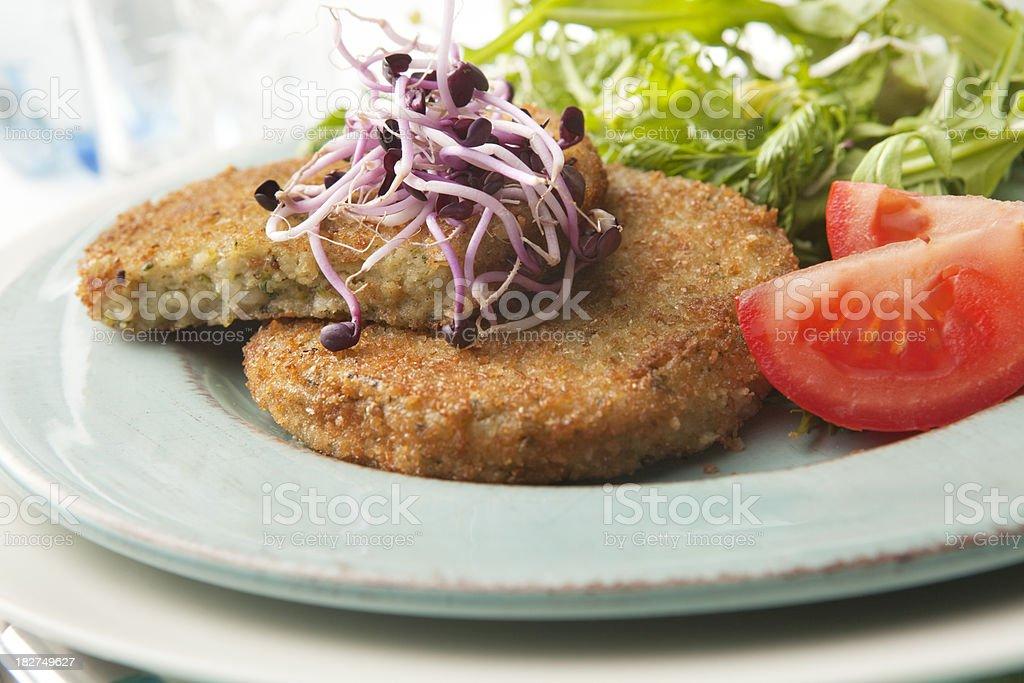 *Tofu Veggie Burgers royalty-free stock photo