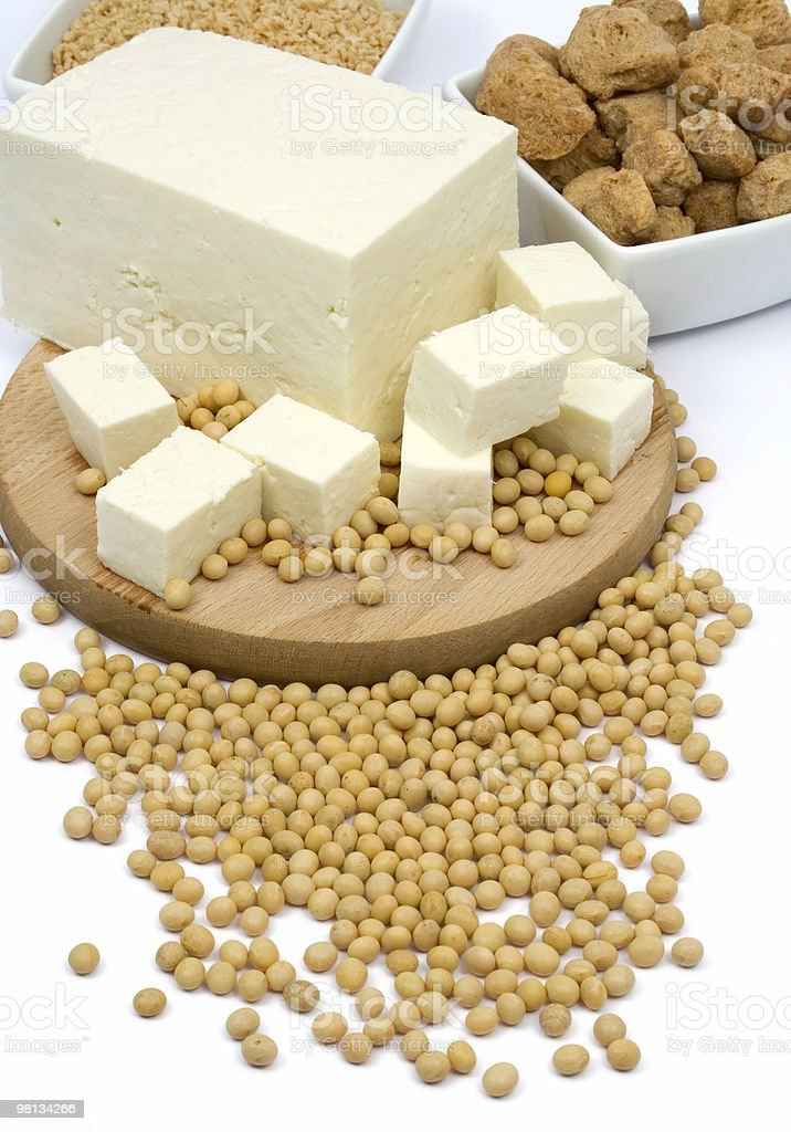 Tofu with soybeans royalty-free stock photo