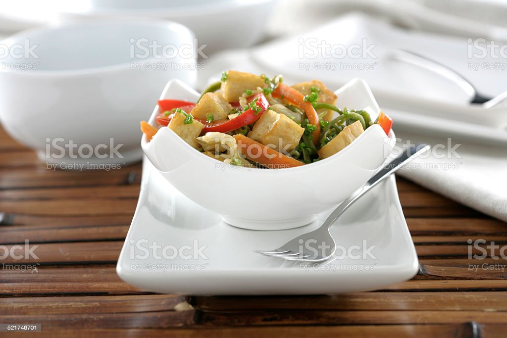 Tofu with vegetables stock photo