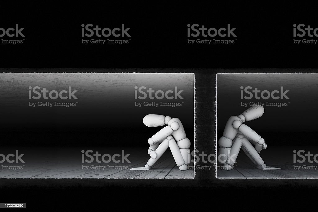 Together apart royalty-free stock photo