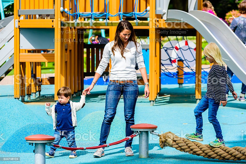 Together at the playground stock photo