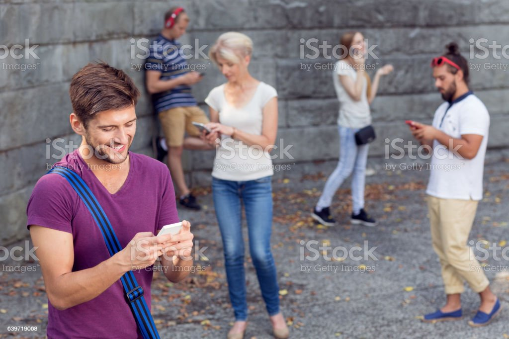 Together, but separately stock photo