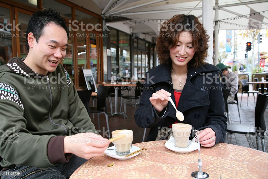 Together for coffee royalty-free stock photo