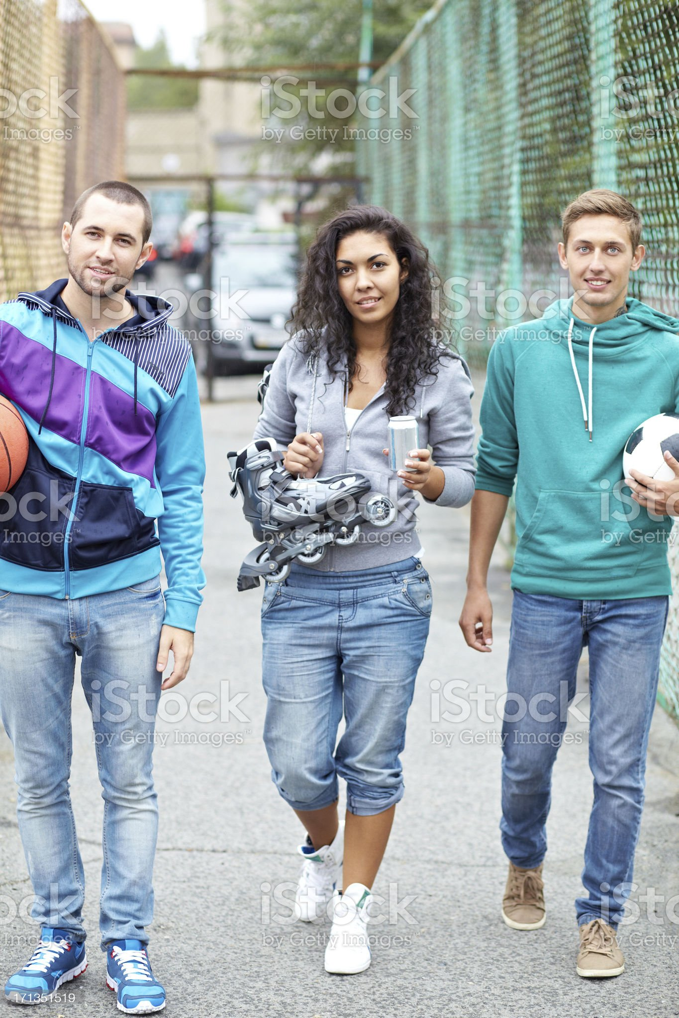 Together for training royalty-free stock photo