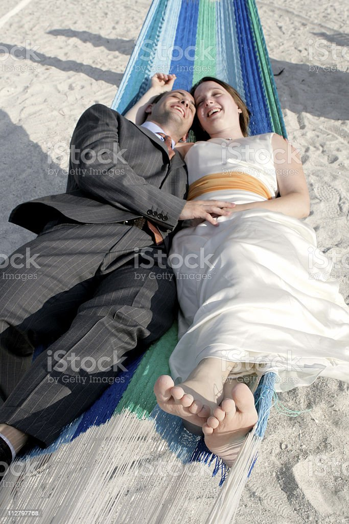 Together in the Hammock royalty-free stock photo