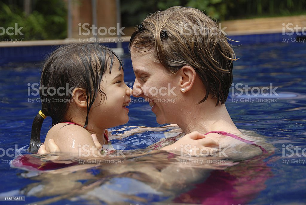Together in the pool royalty-free stock photo