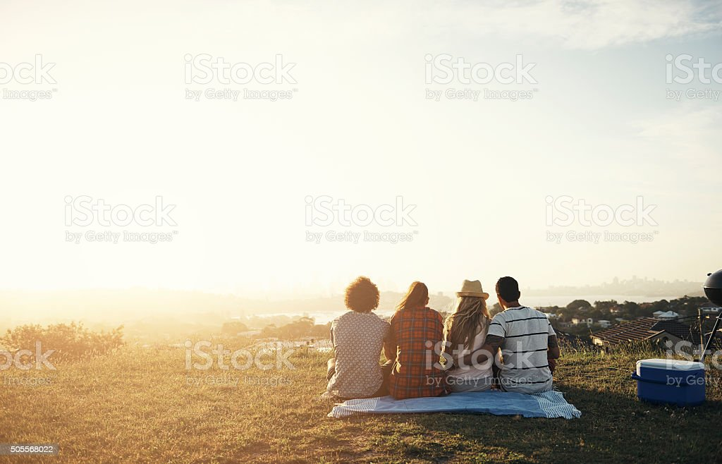 Together is our favourite place to be stock photo