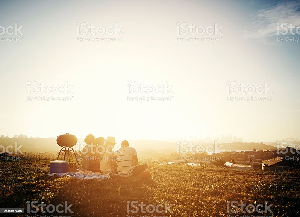 Together is such a nice place to be stock photo