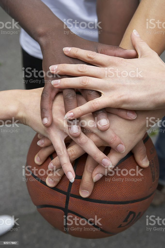 together - lets stay friends stock photo