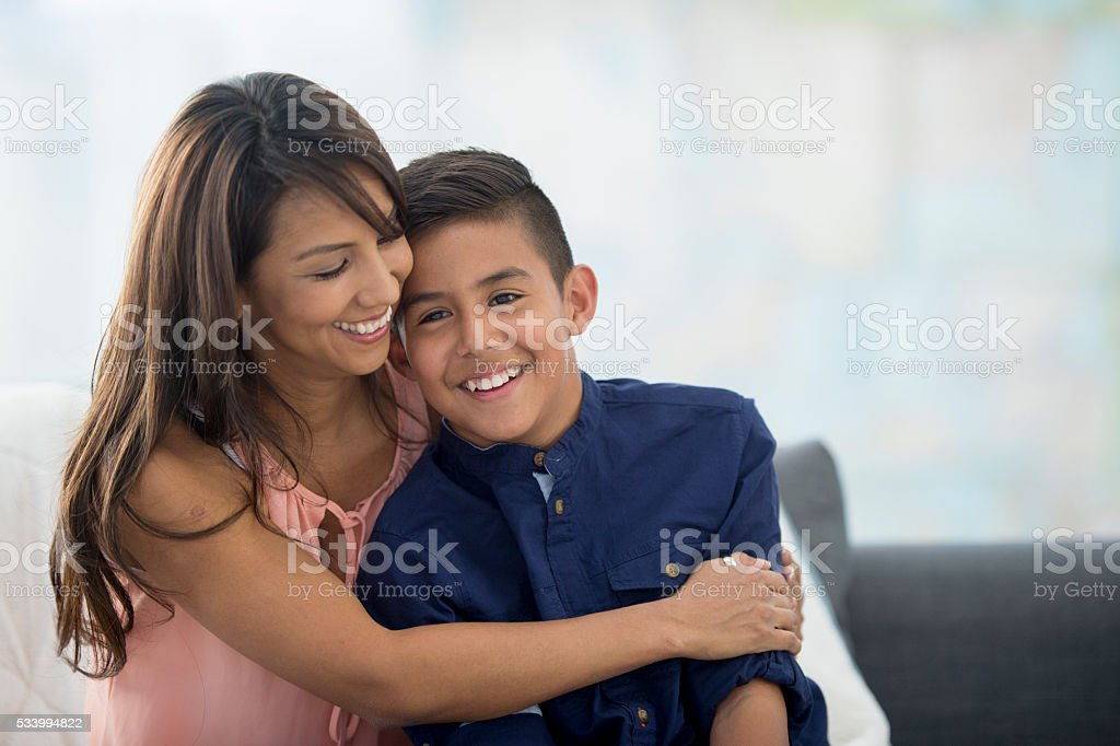 Together on Mother's Day stock photo