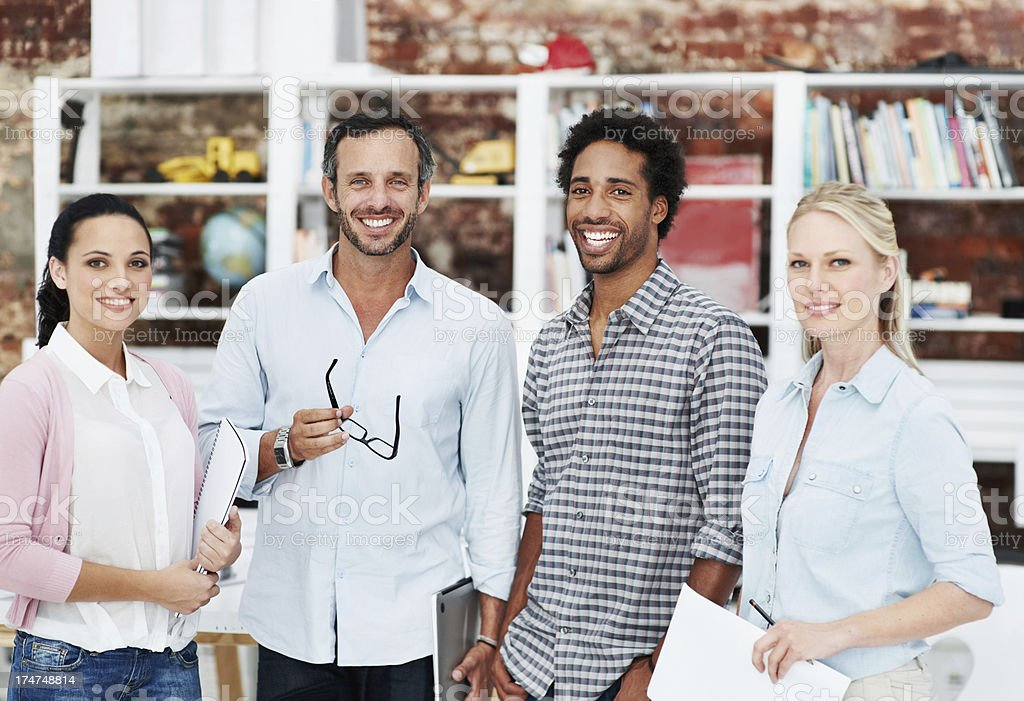 Together they'll achieve great success royalty-free stock photo