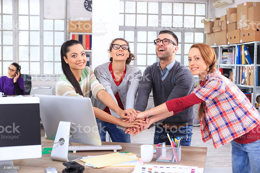 Together we are strong stock photo