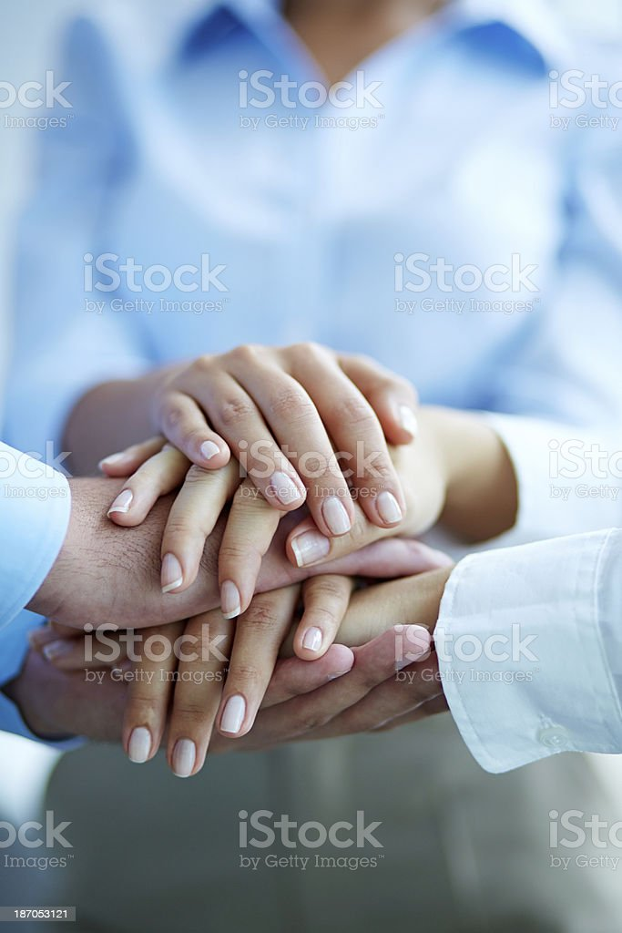Together we are the power! royalty-free stock photo