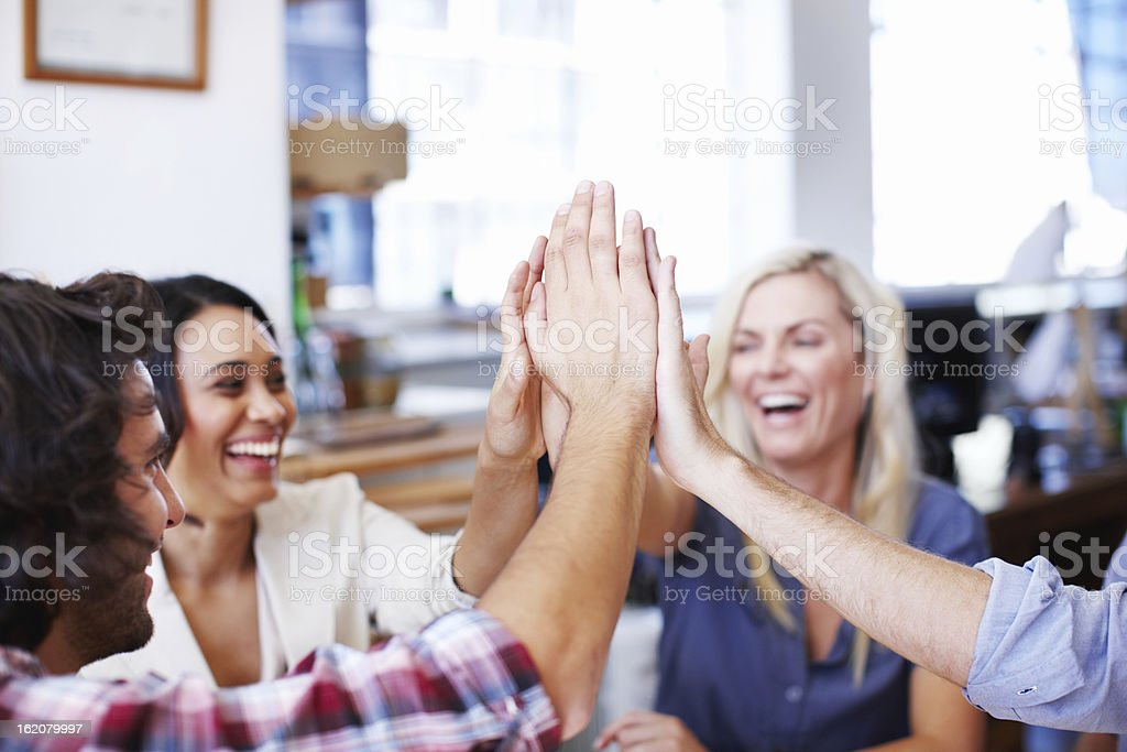 Together we can achieve anything! royalty-free stock photo