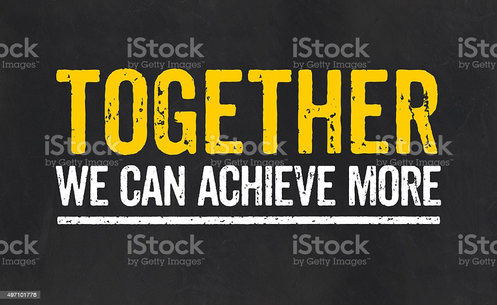 Together we can achieve more vector art illustration