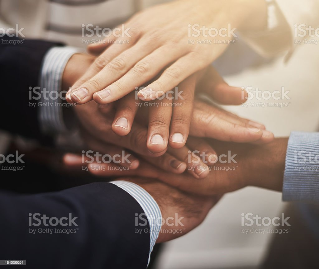 Together we can build an empire stock photo