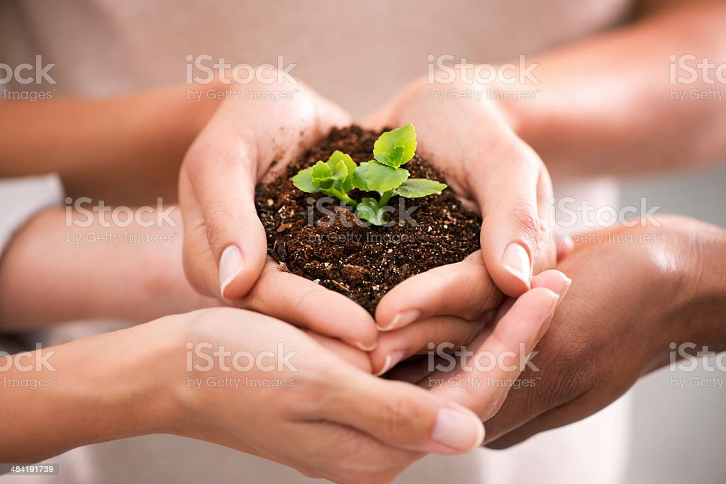 Together we can nuture greatness stock photo