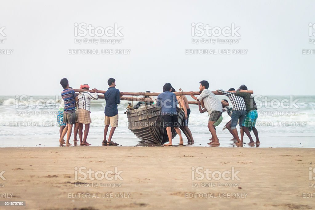 Together we sail divided we fail. stock photo