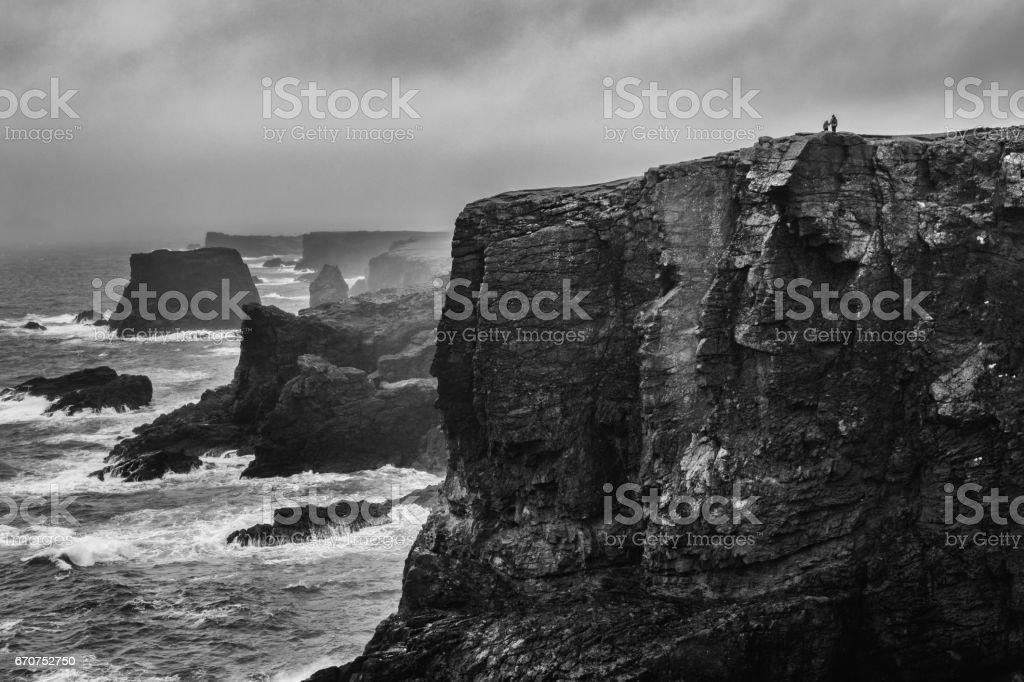 Togetherness, Eshaness, Shetland Islands, Scotland stock photo