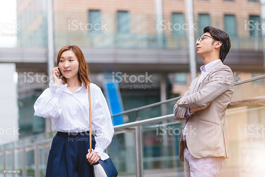 Togetherness or living alone stock photo