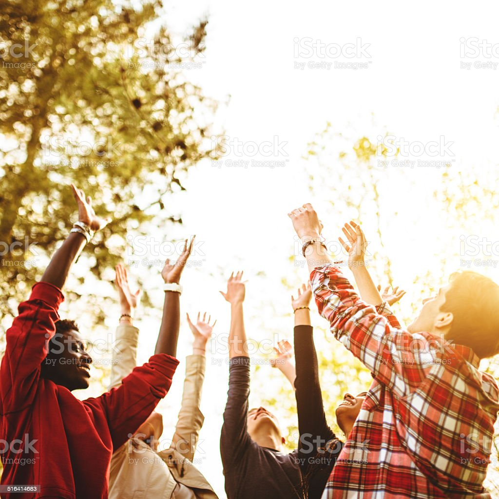 togetherness we can change the world stock photo
