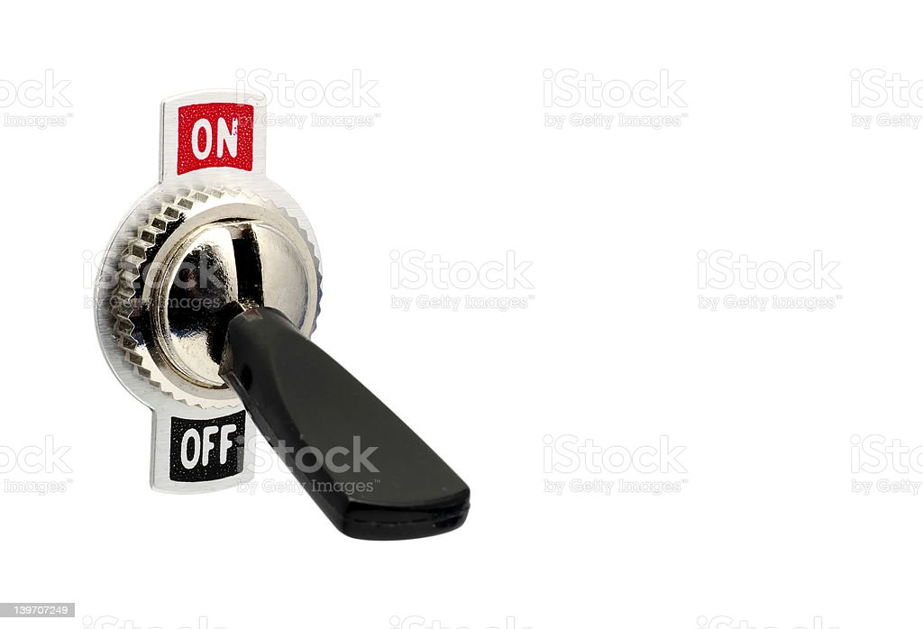 Toggle Switch royalty-free stock photo