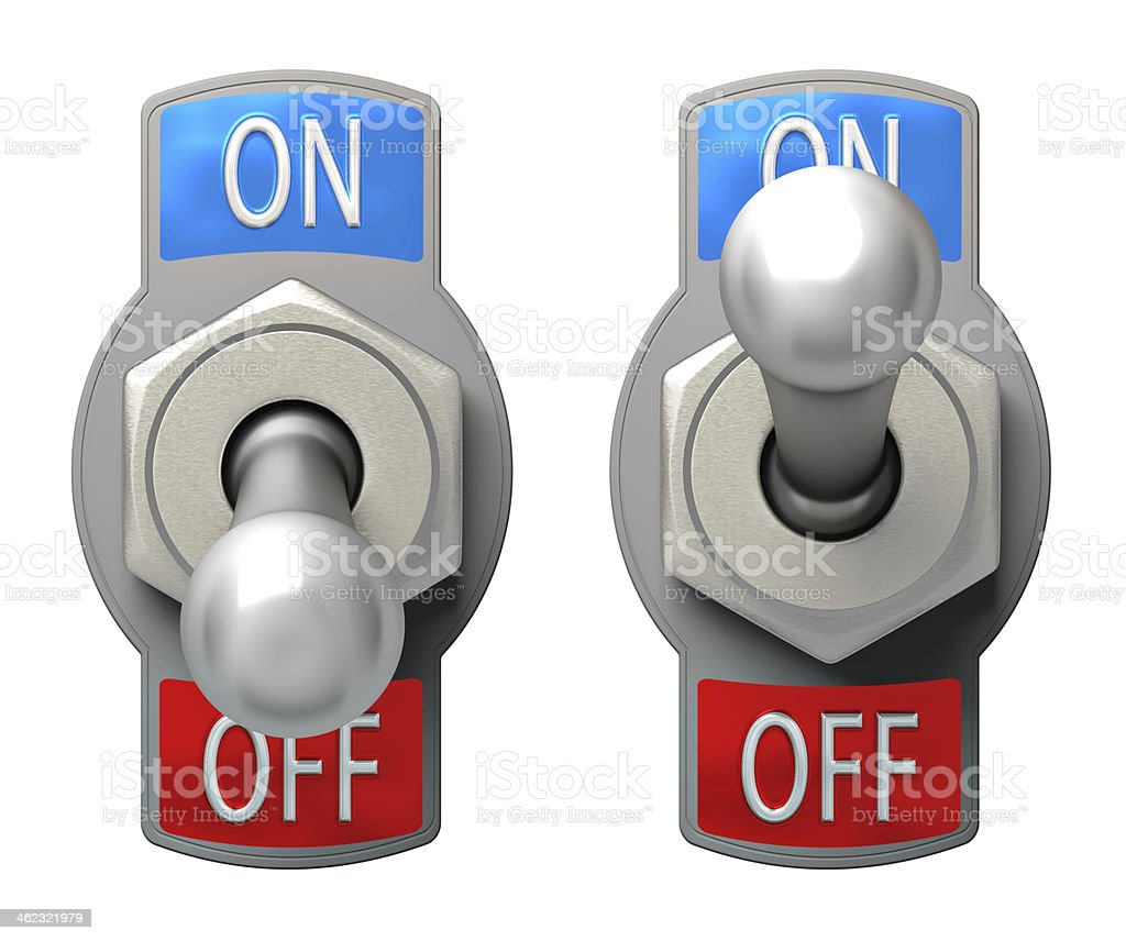 Toggle Switch stock photo