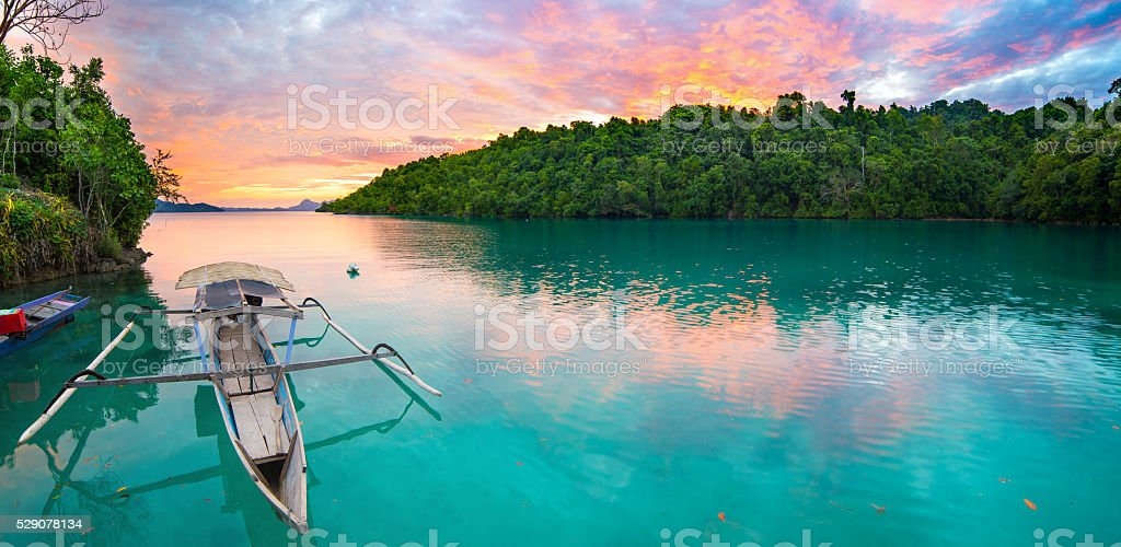 Togian Islands travel destination stock photo