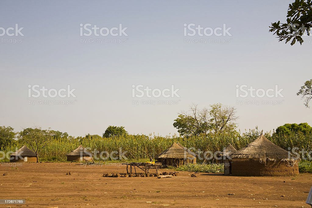 Togo, Africa: Fulani Village in the North stock photo