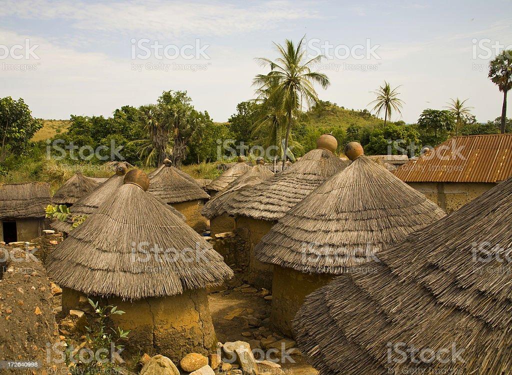 Togo, Africa: Tenaka Village in the Northeast stock photo