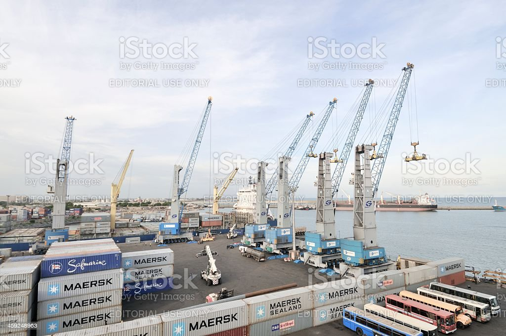 Togo Container Yard stock photo