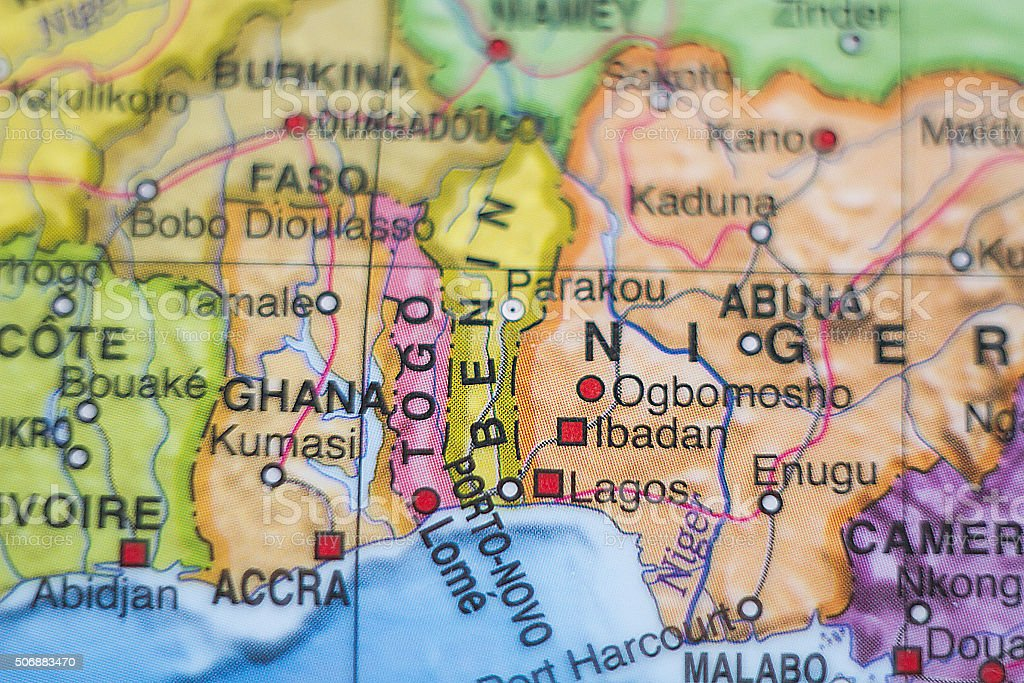 Togo country map . stock photo